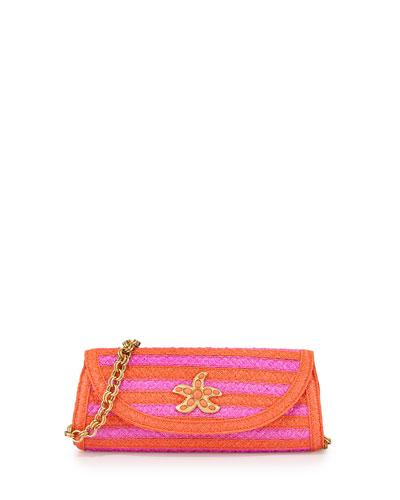 Eric Javits Paradise Woven Clutch Bag, Torpedo