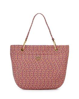 Eric Javits Squishee Clip II Tote Bag, Pink/Multi