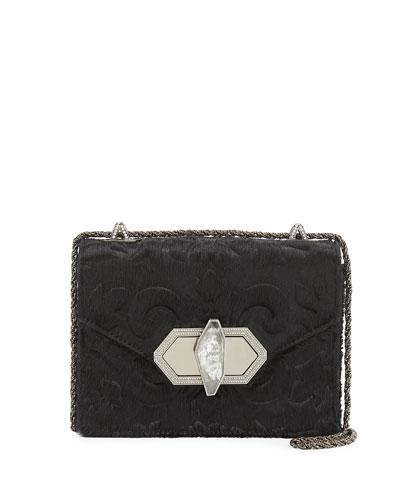 Marchesa Daphne Mini Calf Hair Crossbody Bag, Black