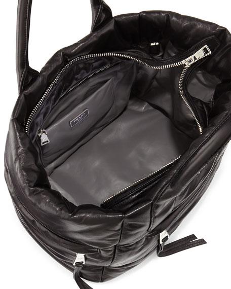 Prada Nappa Bomber Tote Bag, Black (Nero)