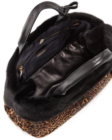 small prada bags - Prada Calf Hair \u0026amp; Mink Fur Tote Bag, Leopard/Black (Miele/Moro)