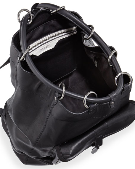 Grayson Leather Backpack, Black