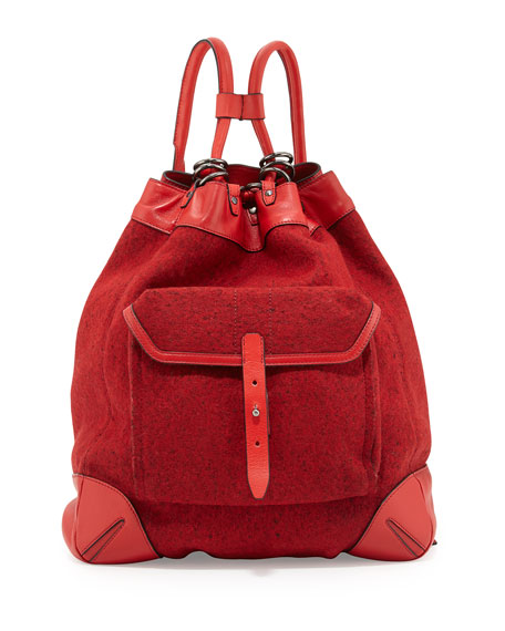 Grayson Leather Backpack, Dark Red