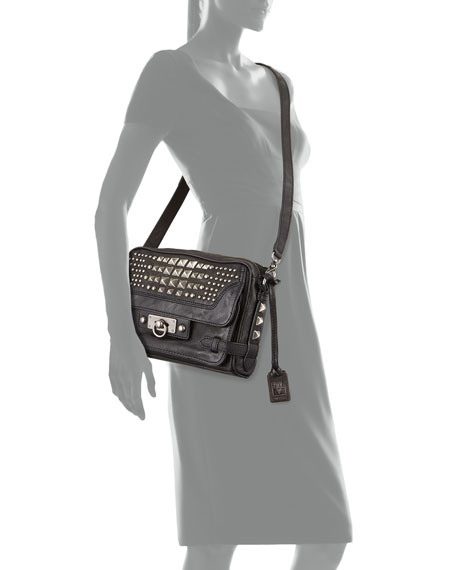 49578e3da8f0 Frye Cameron Studded Leather Crossbody Bag