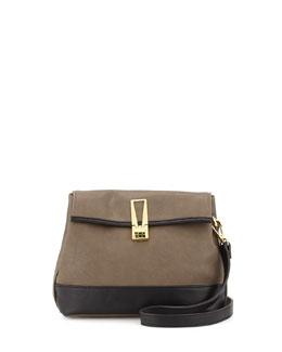 Danielle Nicole Colorblock Faux-Leather Crossbody Bag, Mocha