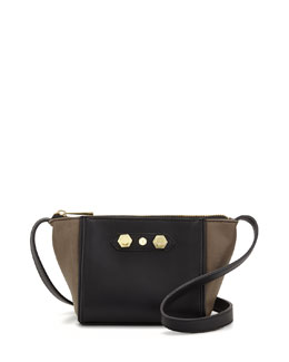Danielle Nicole Dani Colorblock Faux-Leather Crossbody Bag, Gray Combo