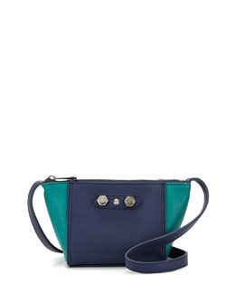 Danielle Nicole Dani Colorblock Faux-Leather Crossbody Bag, Peacock