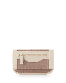 Danielle Nicole Billy Quilted Faux-Leather Wallet on Crossbody Chain, Tan