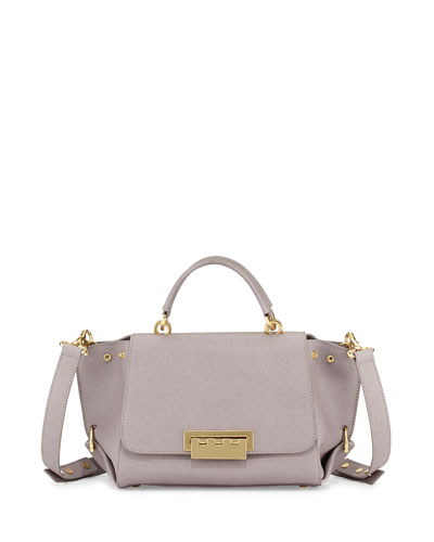 ZAC Zac Posen Eartha Small Saffiano Satchel Bag, Thistle