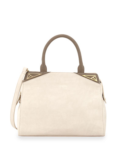 Danielle Nicole Two-Tone Faux-Leather Tote Bag, Nude