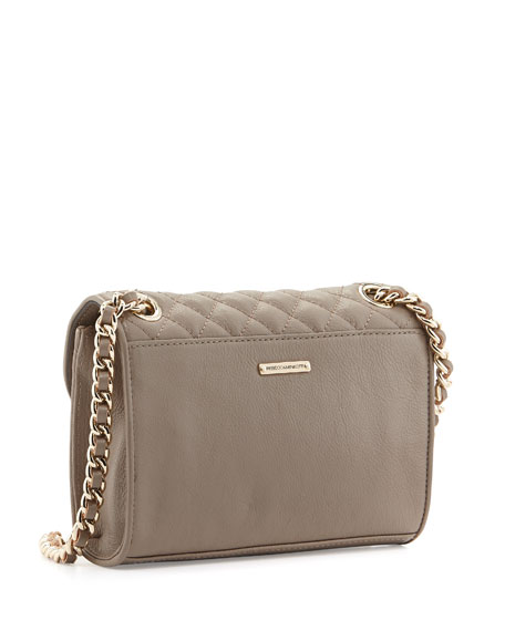 Rebecca Minkoff Quilted Affair Mini Shoulder Bag, Taupe