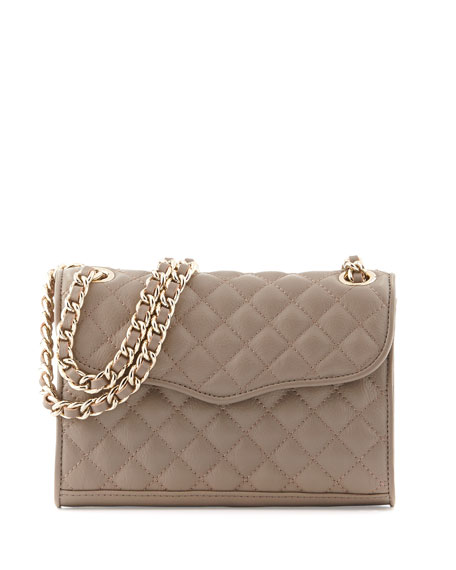 Quilted Affair Mini Shoulder Bag, Taupe