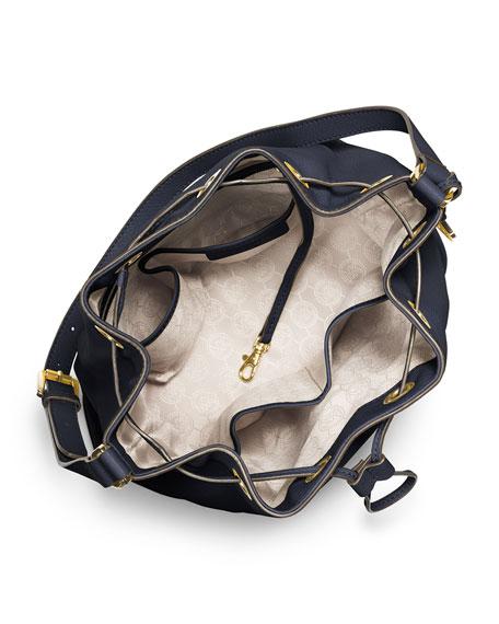 Large Jules Drawstring Shoulder Bag, Navy