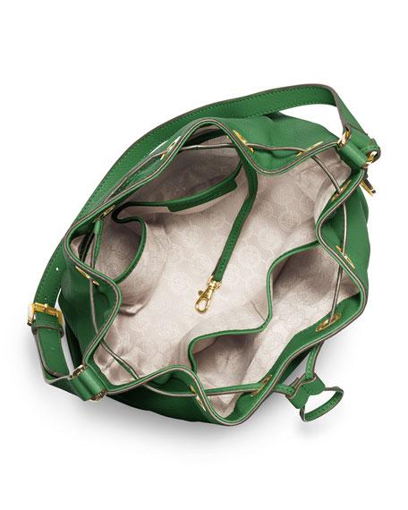 Large Jules Drawstring Shoulder Bag, Gooseberry
