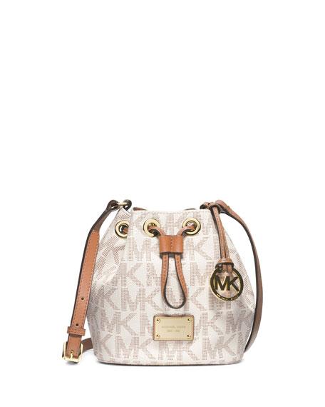 28896cf34195 MICHAEL Michael Kors Jules Logo Drawstring Crossbody Bag, Vanilla
