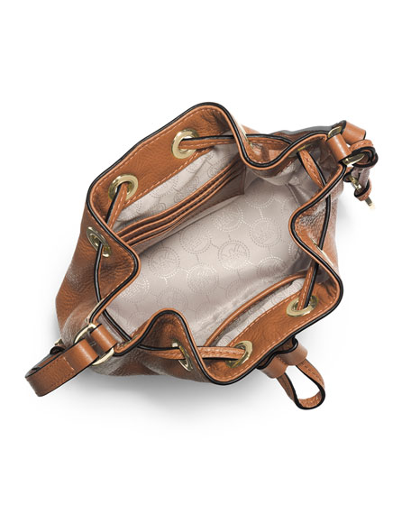 Jules Drawstring Crossbody Bag, Luggage