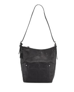 Frye Renee Leather Bucket Bag, Black