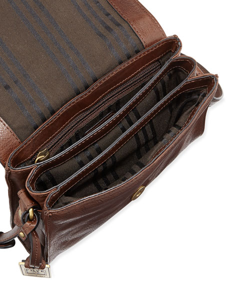 Renee Small Leather Crossbody Bag, Dark Brown