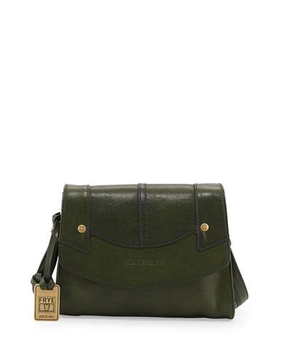 Renee Small Leather Crossbody Bag, Green