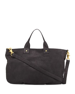 Clare Vivier Pebbled Nubuck Messenger Bag, Black