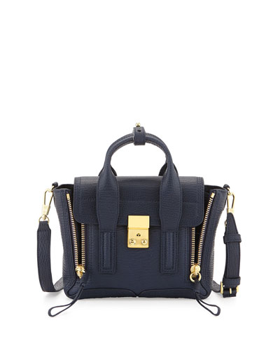 3.1 Phillip Lim Pashli Leather Mini Satchel Bag, Ink
