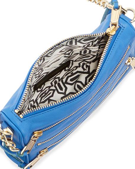 Five-Zip Mini Crossbody Bag, Bright Blue