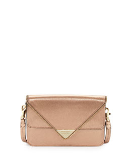 Rebecca Minkoff Sammy Zip Trim Envelope Crossbody Bag, Rose Gold