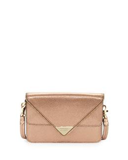 Rebecca Minkoff Sammy Zip Trim Envelope Crossbody Bag, Rose Gold