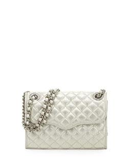 Rebecca Minkoff Quilted Affair Mini Shoulder Bag, Silver