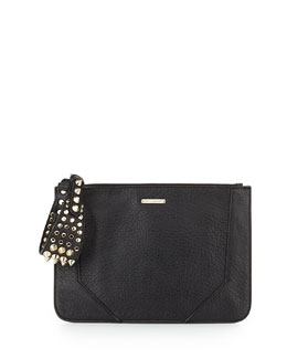 Rebecca Minkoff Jax Spike Studded Clutch, Black
