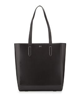 Halston Heritage Structured Leather Tote Bag, Black