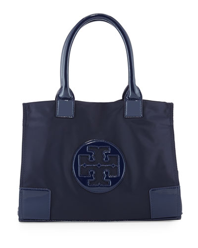 Ella Mini Nylon Tote Bag, French Navy