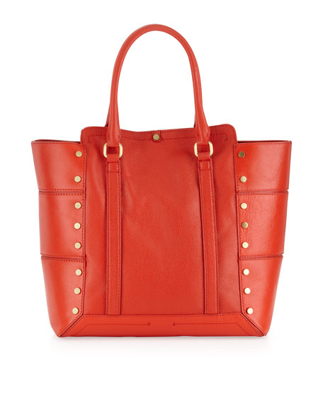 Parker Stud Tote Bag, Poppy