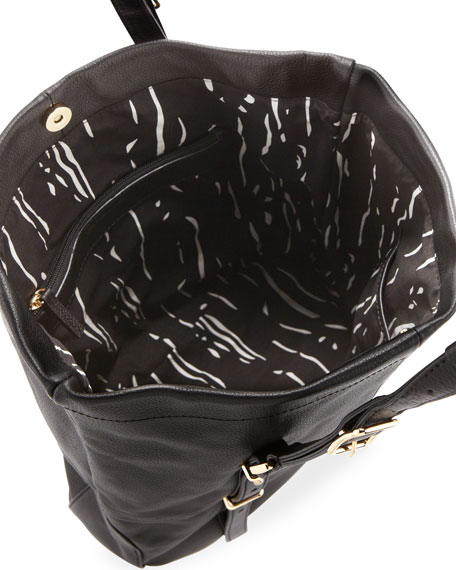 Wheeler Paneled-Leather Tote Bag, Black