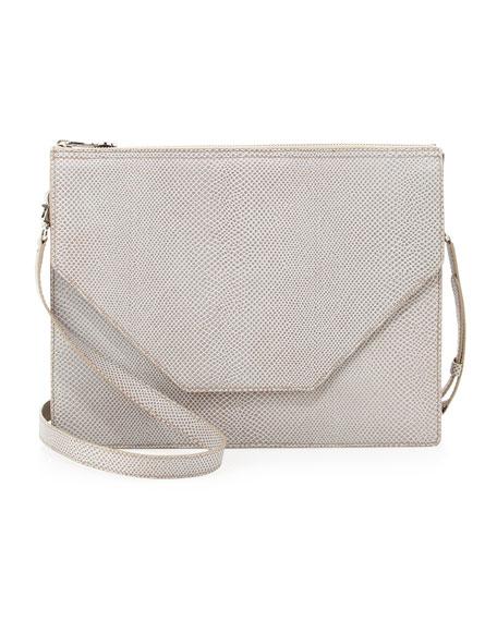 Kirsten Pebble Leather Shoulder Bag, Ash