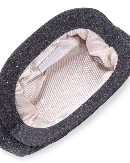 Vivi Snap Textured Clutch, Charcoal