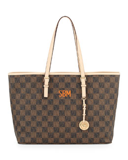 MICHAEL Michael Kors  Medium Monogrammed Jet Set Multifunction Logo Travel Tote