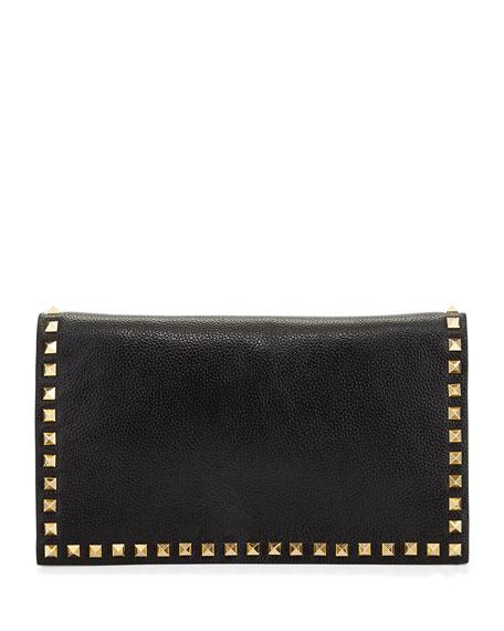 Carlyle Studded Clutch Bag, Black
