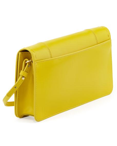 Kadie Pickstitch Crossbody Clutch Bag, Yellow