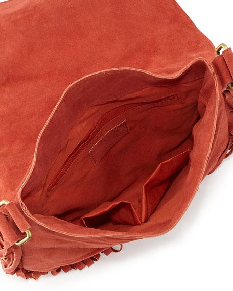 Maria Beaded & Fringed Crossbody Bag, Rust