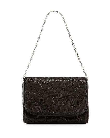 Eric Javits Jaz Sequin Shoulder Bag, Black