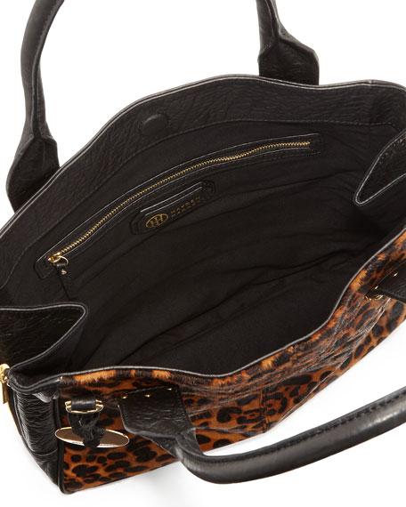 prada pink - Hayden Harnett Margaux Calf Hair Tote Bag, Leopard/Black