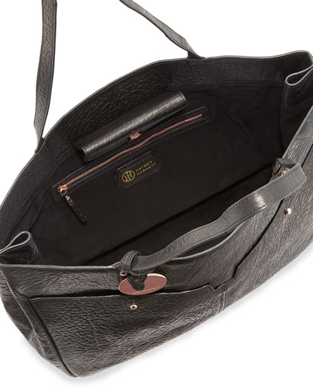 Anouk Leather Tote Bag, Black