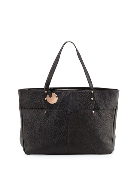 Hayden Harnett Anouk Leather Tote Bag, Black