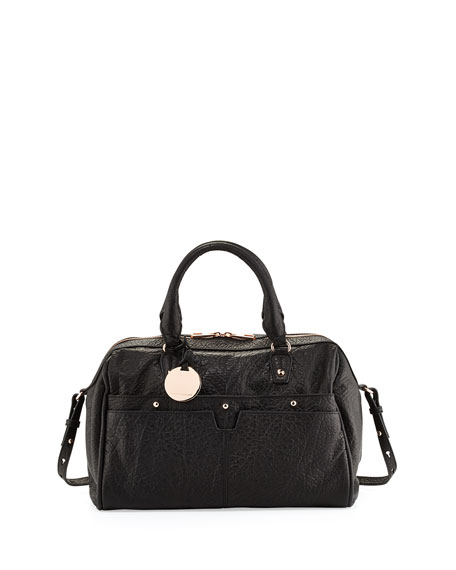 Hayden Harnett Pierre Duffel Satchel Bag, Black