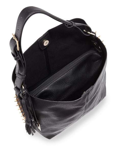 Avoca Spike Studded Tote Bag, Black