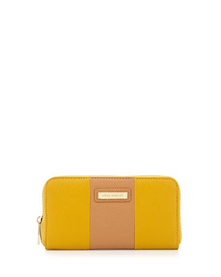 Cruise Colorblock Continental Wallet, Yellow/Tan