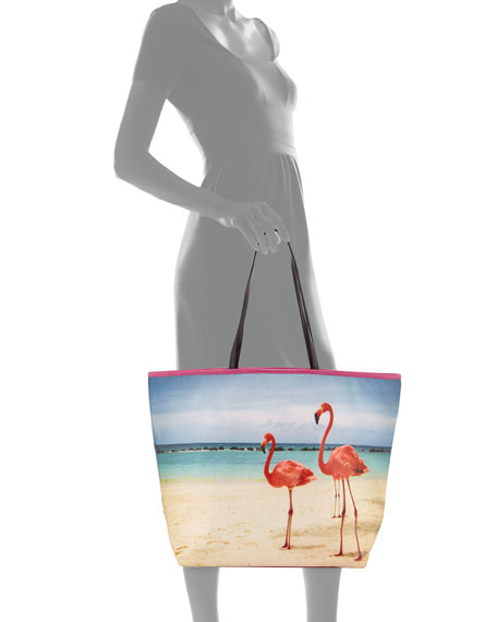 Ballina Flamingo Print Tote Bag
