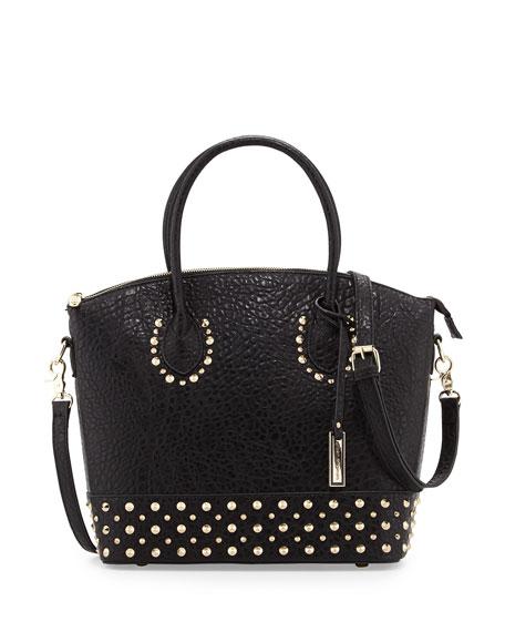 Avalon Studded Structured Tote Bag, Black