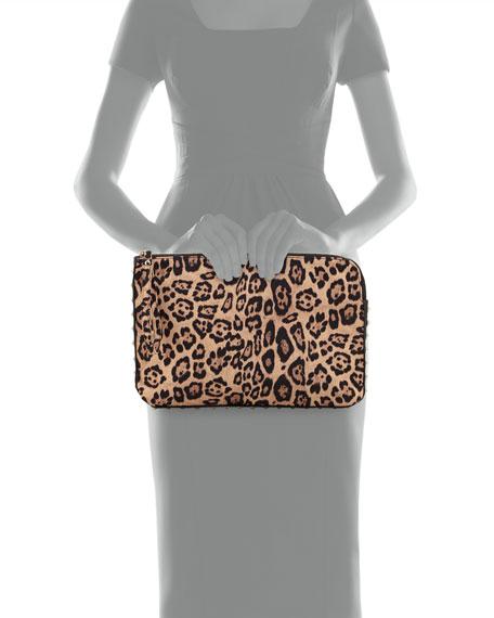 Brittany Leopard-Print Clutch Bag